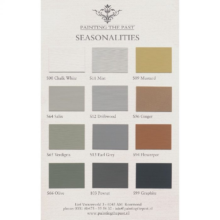 Color Card Seasonalities