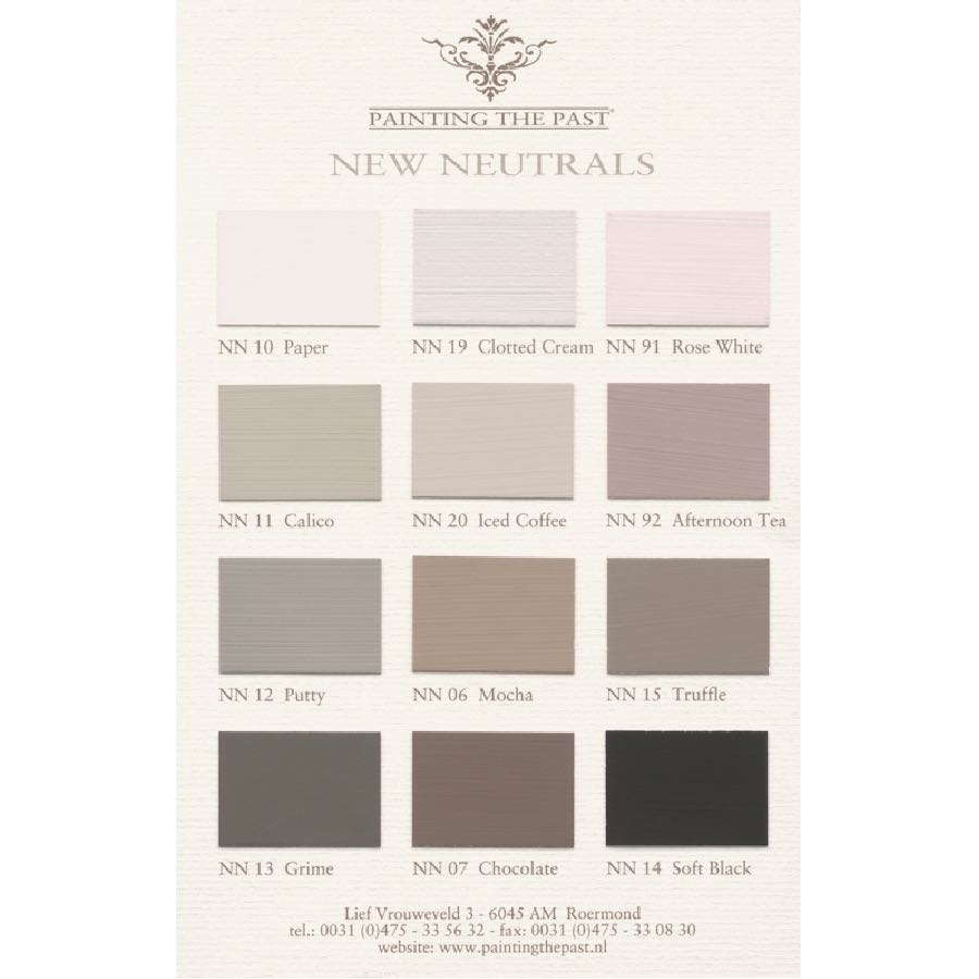 Painting the Past New Neutrals Color Card