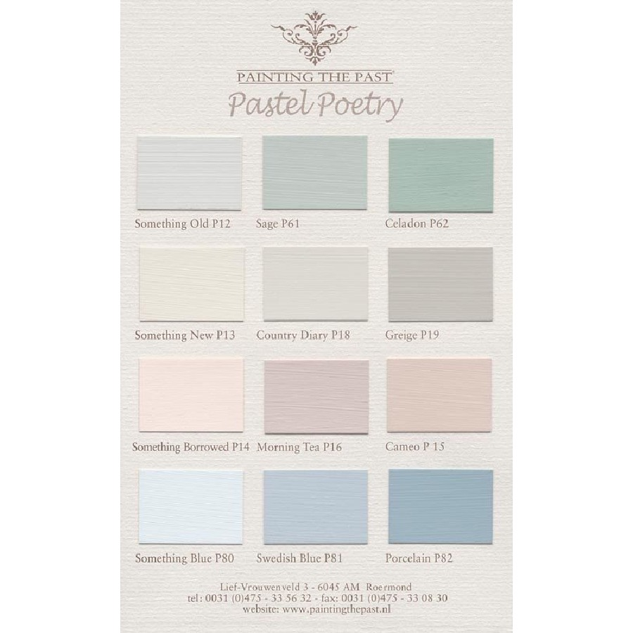 Painting the Past Pastel Poetry Colour Card