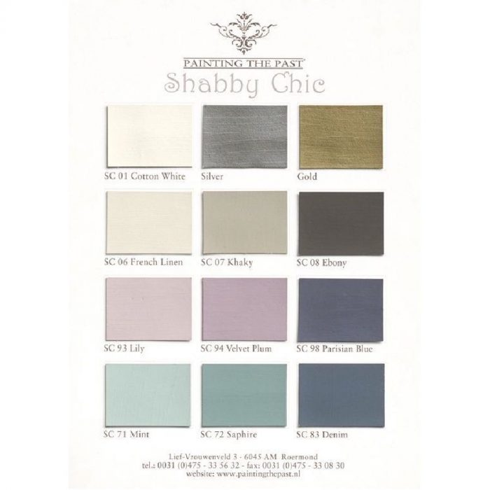 Shabby Chic Color Card Painting the Past